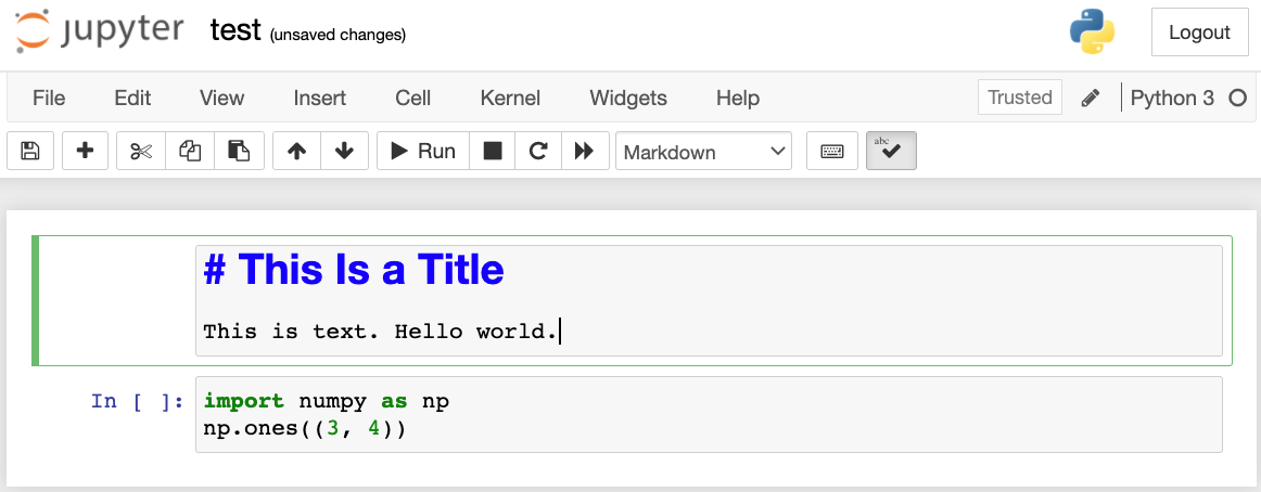 Edit the markdown cell.